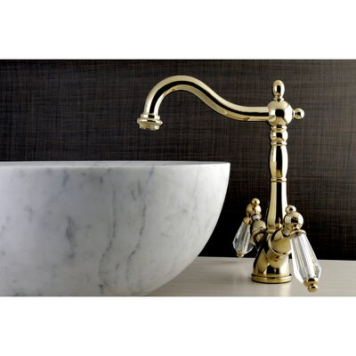 Wilshire Standard Bathroom Faucet with Drain Assembly Finish: Polished brass