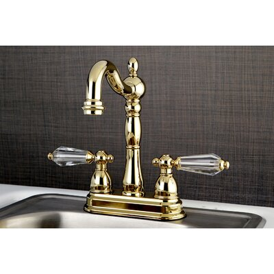 Wilshire 2 Lever Handle Deck Mounted Bar Faucet Finish: Polished Brass