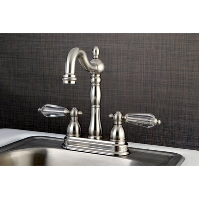 Wilshire 2 Lever Handle Deck Mounted Bar Faucet Finish: Satin Nickel