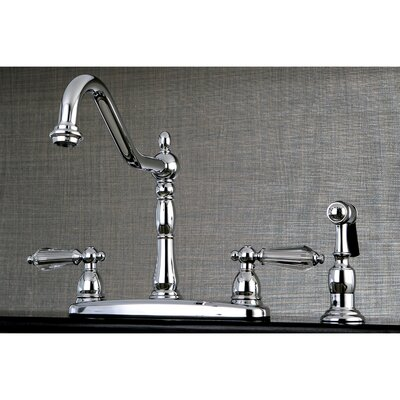 Wilshire Double Handle Kitchen Faucet with Side Spray Finish: Chrome