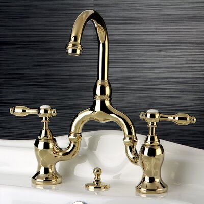 Tudor Standard Bathroom Faucet with Drain Assembly Finish: Polished Brass