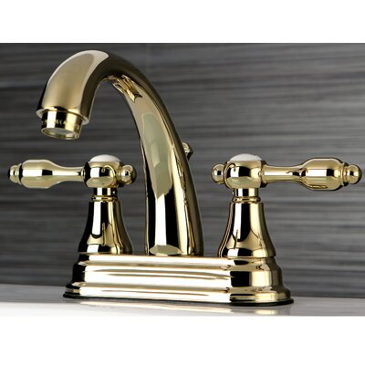 Tudor Standard Centerset Bathroom Faucet with Drain Assembly Finish: Polished Brass