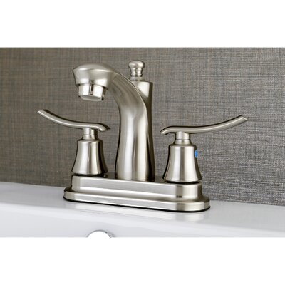 Jamestown Standard Centerset Bathroom Faucet with Drain Assembly Finish: Satin nickel