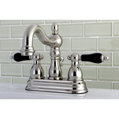 Duchess Double Handle Standard Centerset Bathroom Faucet with Drain Assembly Finish: Satin Nickel