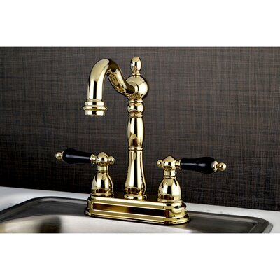 Duchess Double Handle Deck Mounted Bar Faucet Finish: Polished Brass