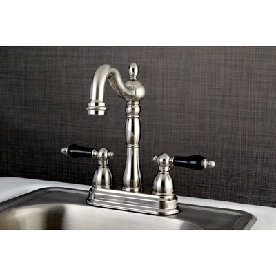Duchess Double Handle Deck Mounted Bar Faucet Finish: Satin Nickel
