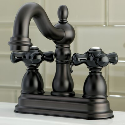 Duchess Centerset Lavatory Faucet Double Handle with Drain Assembly Finish: Oil Rubbed Bronze