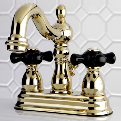 Duchess Centerset Lavatory Faucet Double Handle with Drain Assembly Finish: Polished Brass