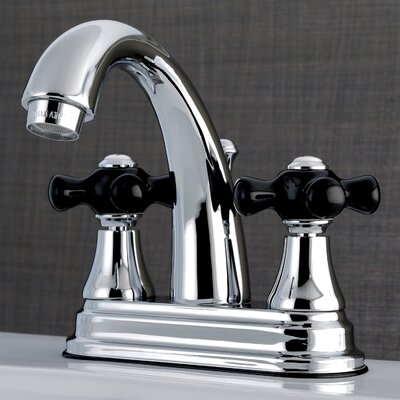 Duchess Centerset Lavatory Faucet Double Handle with Drain Assembly Finish: Chrome