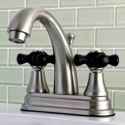 Duchess Centerset Lavatory Faucet Double Handle with Drain Assembly Finish: Satin Nickel