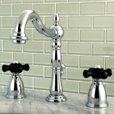 Duchess Widespread Lavatory Faucet Double Handle with Drain Assembly Finish: Chrome