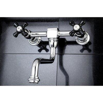 Duchess Wall Mount Center Vessel Faucet Double Handle Finish: Chrome