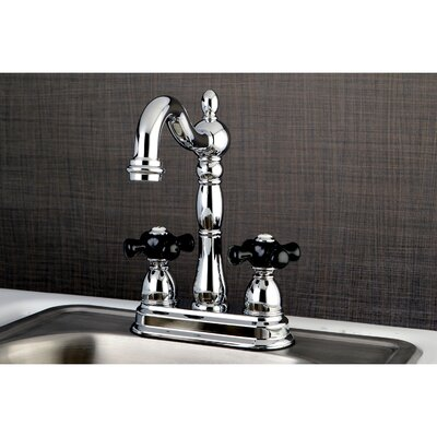 Duchess Double Handle Widespread Deck Mounted Bar Faucet Finish: Chrome