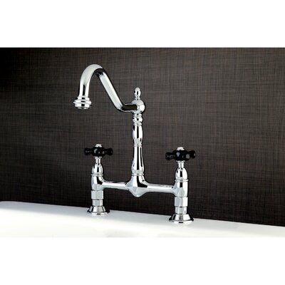 Duchess Double Handle Centerset Deck Mounted Bridge Faucet Finish: Chrome