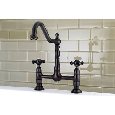 Duchess Double Handle Centerset Deck Mounted Bridge Faucet Finish: Oil Rubbed Bronze