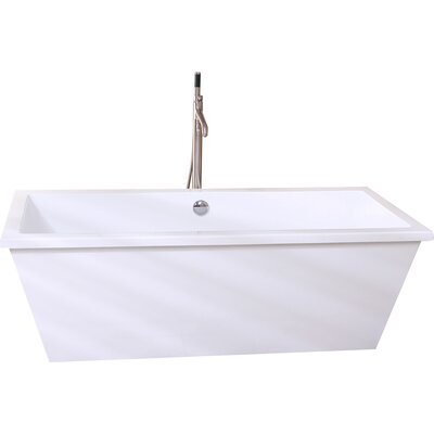 Aqua Eden 66.13 x 33.25 Soaking Bathtub