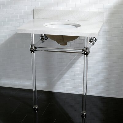 Templeton Fauceture Quartz 12 Console Bathroom Sink Sink Finish: Chrome