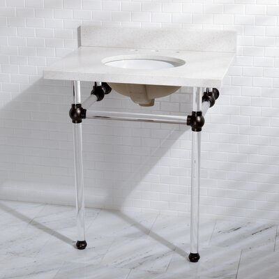 Templeton Vitreous China 30 Console Bathroom Sink with Overflow Sink Finish: Oil Rubbed Bronze