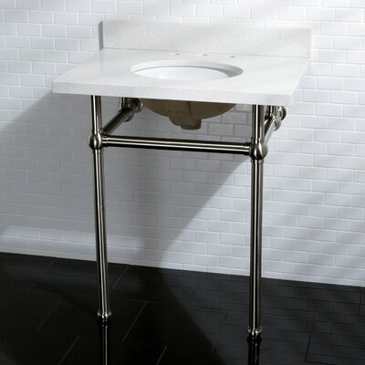Templeton Fauceture Quartz 12 Console Bathroom Sink Sink Finish: Satin NIckel