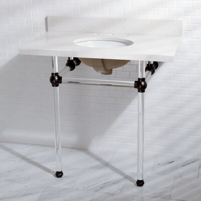 Templeton Vitreous China 13 Console Bathroom Sink with Overflow Sink Finish: Oil Rubbed Bronze
