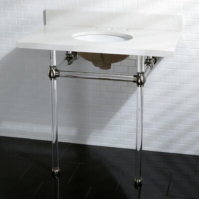 Templeton Vitreous China 13 Console Bathroom Sink with Overflow Sink Finish: Satin Nickel