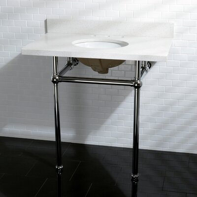 Templeton Vitreous China 13 Console Bathroom Sink with Overflow Sink Finish: Chrome