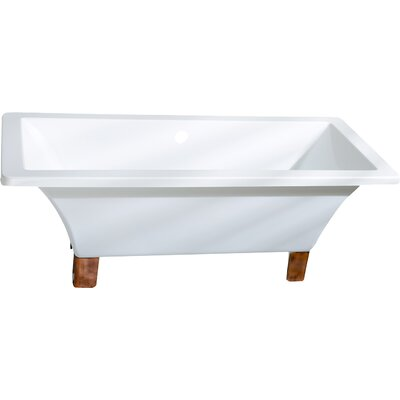Aqua Eden 67 x 29.5 Soaking Bathtub Color: Naples Bronze