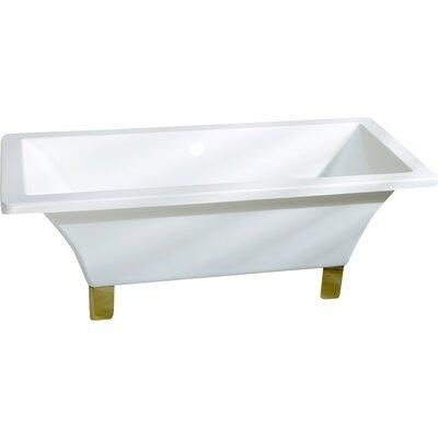 Aqua Eden 67 x 29.5 Soaking Bathtub Color: Polished Brass
