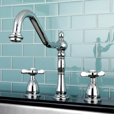 Essex Double Handle Deck Mounted Widespread Kitchen Faucet Finish: Chrome