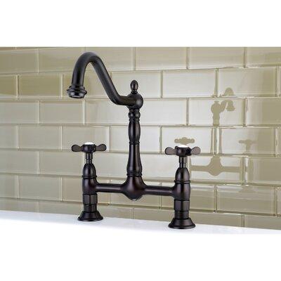 Essex Double Handle Deck Mounted Bridge Kitchen Faucet Finish: Oil Rubbed Bronze