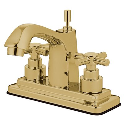 Elinvar Double Handle Centerset Bathroom Faucet with Pop-Up Drain Finish: Polished Brass