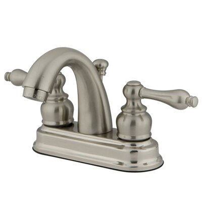 Restoration Centerset Bathroom Faucet with Pop-Up Drain Finish: Satin Nickel