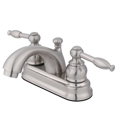 Knight Centerset Bathroom Faucet with Pop-Up Drain Finish: Satin Nickel