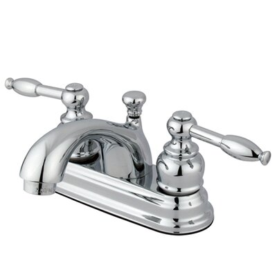 Knight Centerset Bathroom Faucet with Pop-Up Drain Finish: Polished Chrome