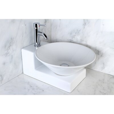 Soho Circular Vessel Bathroom Sink Faucet Finish: Satin Nickel