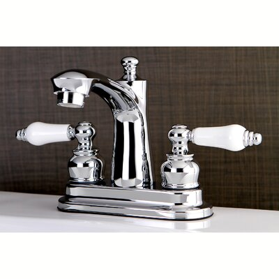 Victorian Centerset Double Handle Lavatory Faucet with Drain Assembly Finish: Polished Chrome