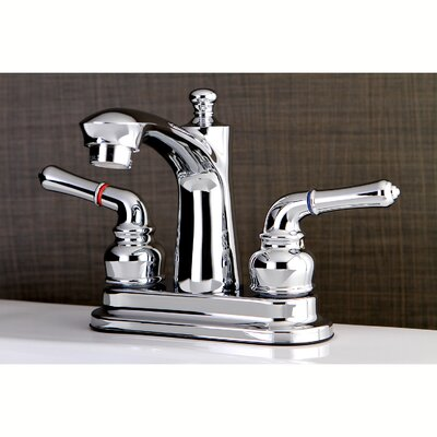 Naples Centerset Double Handle Lavatory Faucet with Drain Assembly Finish: Polished Chrome