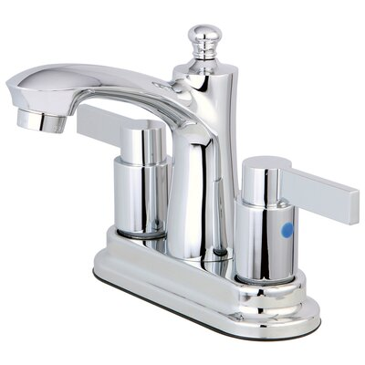 NuvoFusion Centerset Double Handle Lavatory Faucet with Drain Assembly Finish: Polished Chrome