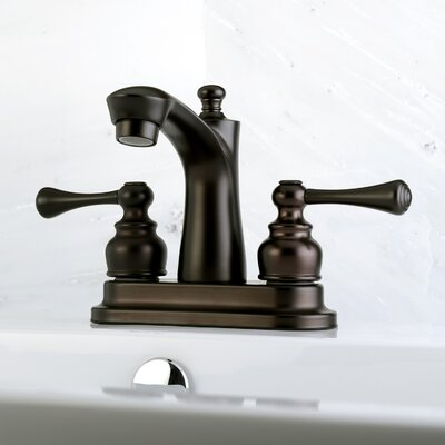 Centerset Double Handle Lavatory Faucet with Drain Assembly Finish: Oil Rubbed Bronze