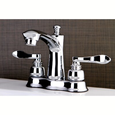 NuWave French Centerset Double Handle Lavatory Faucet with Drain Assembly Finish: Polished Chrome