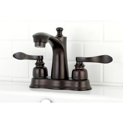 NuWave French Centerset Double Handle Lavatory Faucet with Drain Assembly Finish: Oil Rubbed Bronze