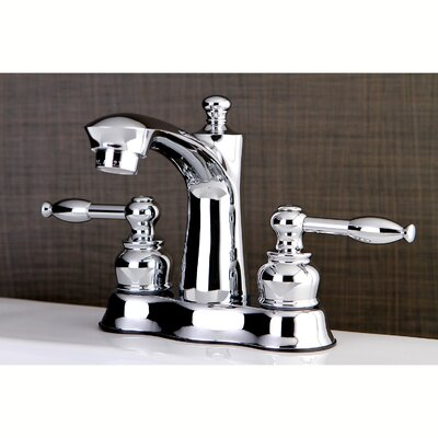 Knight Centerset Double Handle Lavatory Faucet with Drain Assembly Finish: Polished Chrome