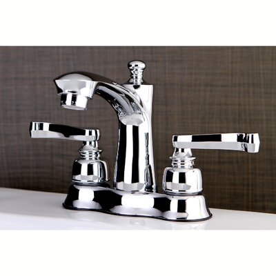 Royale Centerset Double Handle Lavatory Faucet with Drain Assembly Finish: Polished Chrome