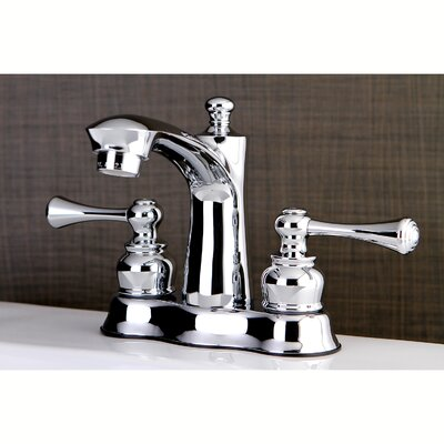 Centerset Double Handle Lavatory Faucet with Drain Assembly Finish: Polished Chrome