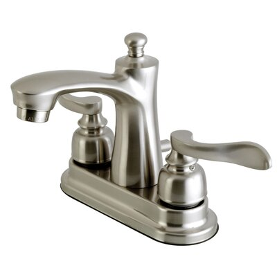 NuWave French Centerset Double Handle Lavatory Faucet with Drain Assembly Finish: Satin Nickel