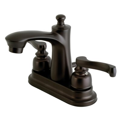 Royale Centerset Double Handle Lavatory Faucet with Drain Assembly Finish: Oil Rubbed Bronze