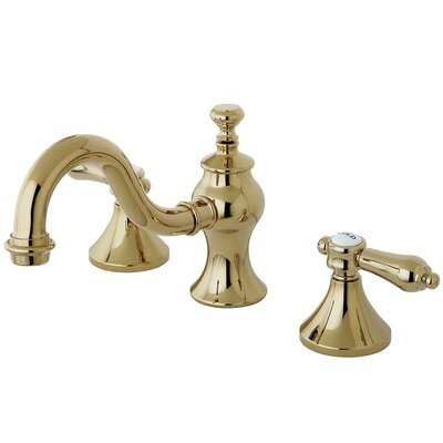 Bel Air Double Handle Widespread Lavatory Bathroom Faucet with Brass Pop-Up Finish: Polished Brass