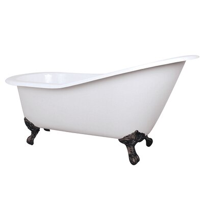 Aqua Eden Celeste Cast Iron Slipper 61.56 x 30.5 Soaking Bathtub Color: Oil Rubbed Bronze