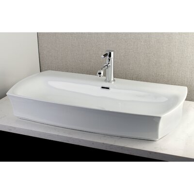 Fauceture Charlotte Rectangular Vessel Bathroom Sink with Overflow
