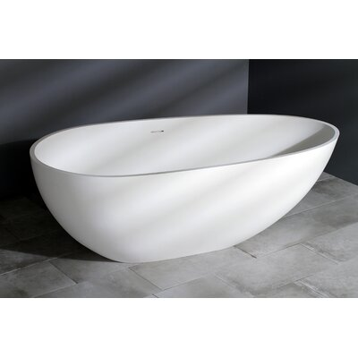 Aqua Eden Sophia Solid Surface 67 x 34.25 Freestanding Soaking Bathtub